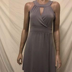 EUC Banana Republic blue/grey dress size 4